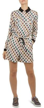 Ted Baker Colour by Numbers Lurha Heart-Print Romper