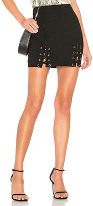 by the way. Reese Lace Up Mini Skirt