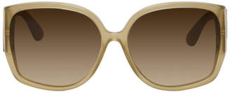 Burberry Beige Oversized Butterfly Sunglasses