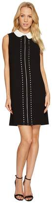 CeCe Sleeveless Eyelet Embroidered Collared Dress Women's Dress