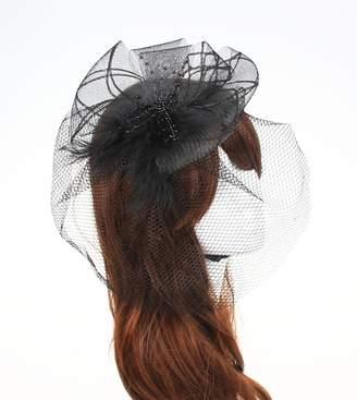 CaliaDress Evening Cocktail Hair Clip Bridal Birdcage Face Veil Fascinator C010TS