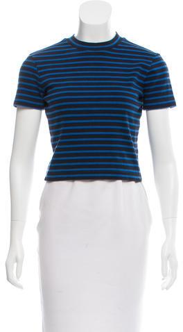 Alexander WangT by Alexander Wang Striped Short Sleeve Top