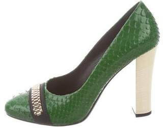 Lanvin Embellished Round-Toe Pumps w/ Tags