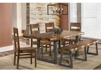 Hillsdale Furniture Emerson 6 Piece Dining Set in Natural Sheesham