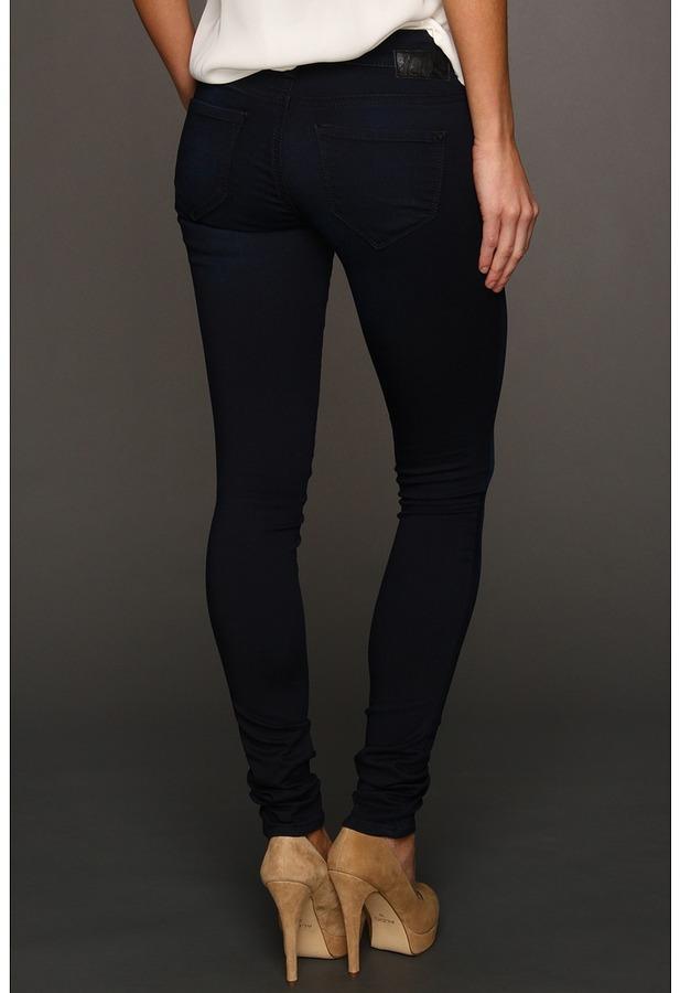 Mavi Jeans Serena Low-Rise Super Skinny in Deep Sateen (Deep Sateen) - Apparel