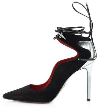 Cesare Paciotti Suede Lace-Up Pump