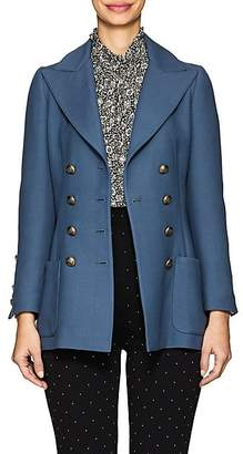 Philosophy di Lorenzo Serafini Women's Twill Double-Breasted Blazer - Blue