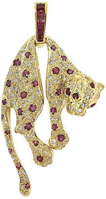 One Kings Lane Vintage Diamond & Ruby Panther Charm - Raymond Lee Jewelers