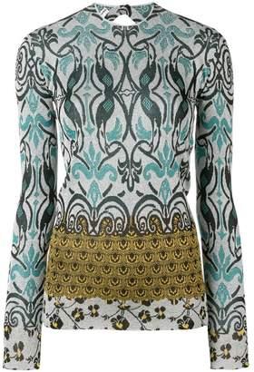 Paco Rabanne printed LS blouse
