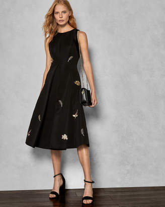 Ted Baker FLLORAA Embellished midi dress