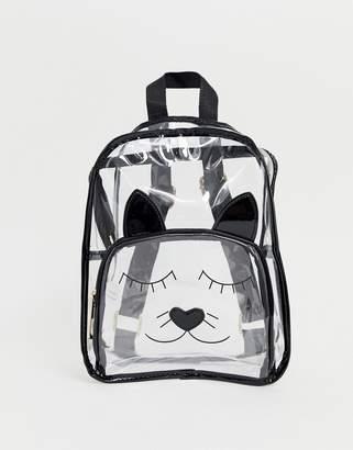 clear Yoki Fashion Yoki Cat Face Backpack