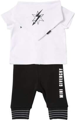 Givenchy Cotton Jersey T-Shirt, Pants & Bib