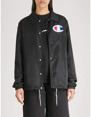 Champion Logo-embroidered shell coach jacket