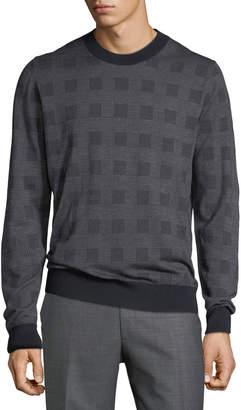 Brioni Men's Crewneck Knit Sweater, Blue