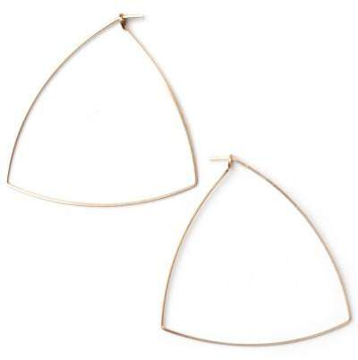 Styleserver DE By Boe Creolen Triangle Hoop Large Gold