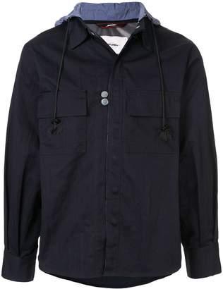 Indice Studio press stud military jacket