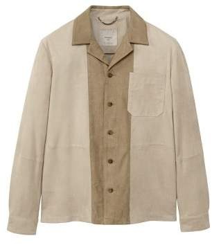 Mango man MANGO MAN Contrasting panel suede jacket