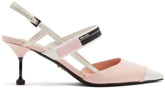 Prada Point-toe slingback leather pumps