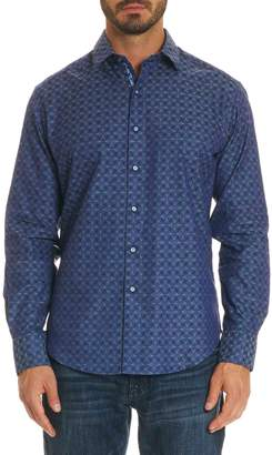 Robert Graham Diamante Classic Fit Print Sport Shirt