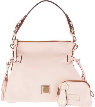 Dooney & Bourke Smooth Leather Shoulder Bag w/ Accessories- Teagan