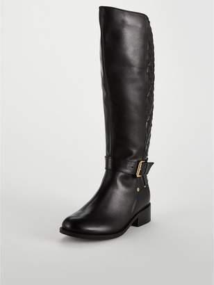 Carvela Polished Quilted Rider Knee Boot - Black