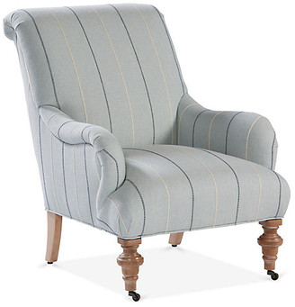 One Kings Lane Carlyle Accent Chair - Mediterranean Blue