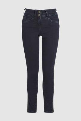 Next Womens Inky Beaded Side Stripe Skinny Jeans