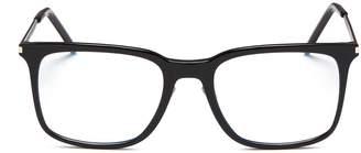 Saint Laurent Metal temple acetate square optical glasses