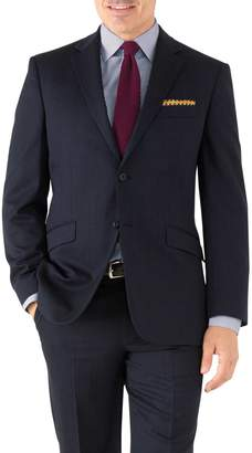 Charles Tyrwhitt Navy Classic Fit Hairline Business Suit Wool Jacket Size 40