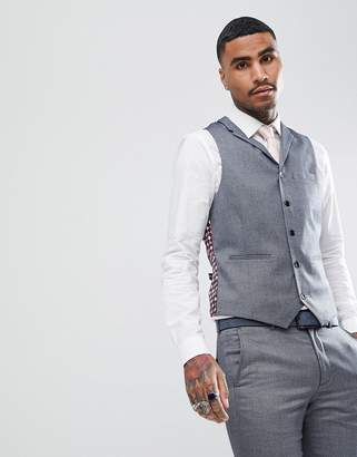 RUDIE Rudie Light Gray Jacquard Skinny Fit Vest