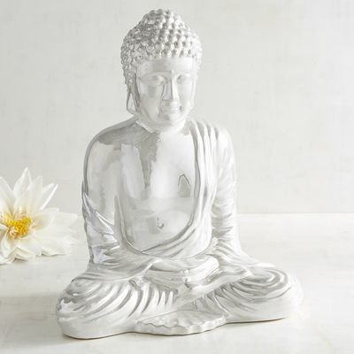 Pearlized Ceramic Buddha