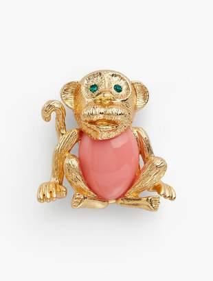 Talbots Curious Monkey Brooch