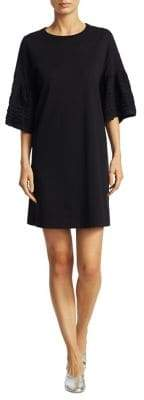 See by Chloe Frill Cotton T-Shirt Dress
