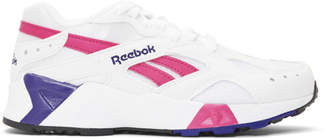 Reebok Classics White and Pink Aztrek Sneakers