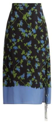 Altuzarra Felice Dip Dye Midi Skirt - Womens - Black Multi