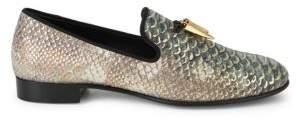 Giuseppe Zanotti Horn Croc-Embossed Loafers