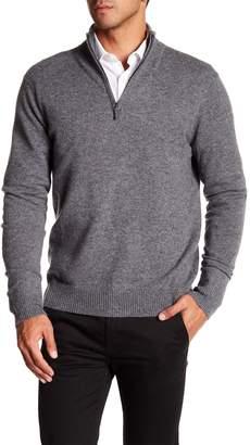 Qi Cashmere Half Zip Sweater