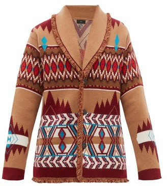 Alanui Icon Fair Isle Cashmere Cardigan - Mens - Brown Multi