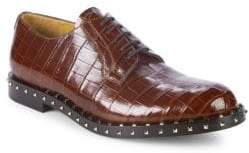 Valentino Embossed Leather Dress Shoes