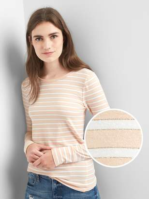 Gap Metallic stripe long sleeve tee