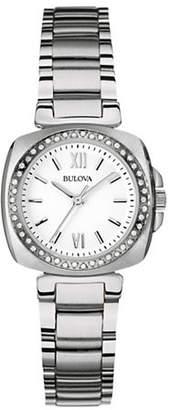 Bulova Analog Diamond Gallery Collection Stainless Steel Watch