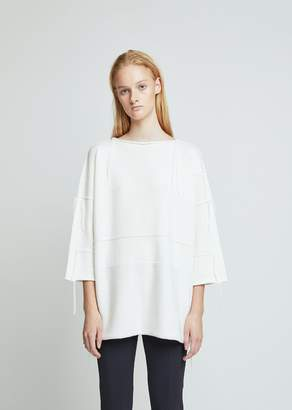 Dusan Dušan Knited Patch Wool Sweater Tunic
