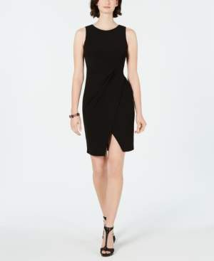 Taylor Petite Jersey Cutaway Wrap Dress