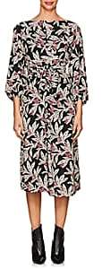 Etoile Isabel Marant Women's Lisa Floral Crepe Midi-Dress-Black