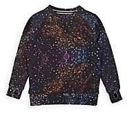 Munster Kids' Paint-Splatter-Detailed Cotton Sweatshirt