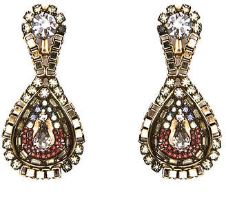 One Kings Lane Rone Mixed Crystal - Chain Wrapped Earrings