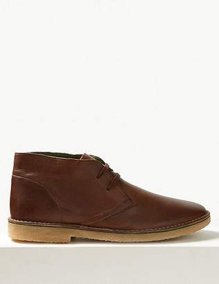 Marks and Spencer Leather Lace-up Desert Boots