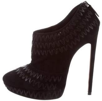 Alaia Suede Platform Booties w/ Tags