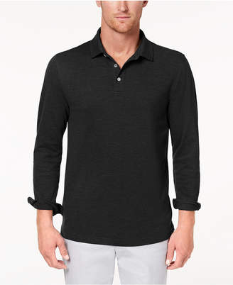 Club Room Men's Long-Sleeve Polo, Only from Macy's