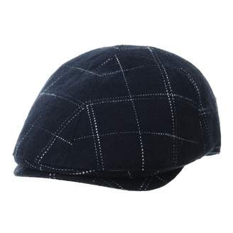 89552fc32350d WITHMOONS Mens Wool Flat Cap Dotted Lattice Checks Plaid Ivy Hat SL3792